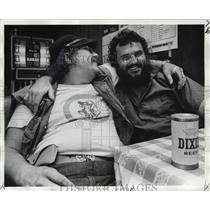 1974 Press Photo Fat Fred and Willie of the Banshees motorcycle club.