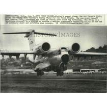 1976 Press Photo Boeing's newest plane the Air Force's YC-14 - spa73763