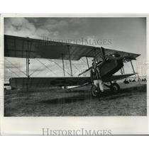1971 Press Photo Charles Klessig & home built 1917 Standard J-1 biplane.