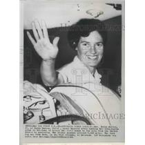 1963 Press Photo Betty Miller, 1st Woman to travel solo from US to Australia