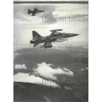 1955 Press Photo Two US Air Force F5 Freedom Fighters tested in Vietnam