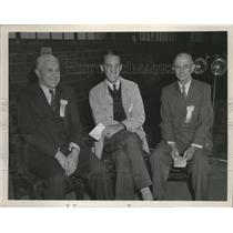 1947 Press Photo Three college representatives at the Flying Farmers Convention
