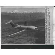 1963 Press Photo The Boeing Company's 727 short-to-medium range jet airliner