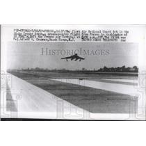 1957 Press Photo First Air National Guard Jet in the Ricks Event  - nef66516