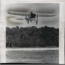 1957 Press Photo replica of a 1909 airplane landing at Andrews Air Force Base