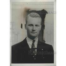 1934 Press Photo Richard DuPont, Aviator - nef68666