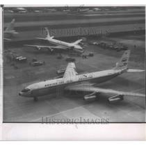 1959 Press Photo Airplane, Boeing's first 707 Intercontinental transport