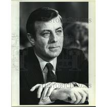 1981 Press Photo Drew Lewis, Transportation Secretary, at Confirmation Hearing
