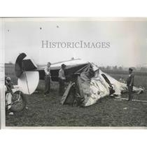 1935 Press Photo Four Chicagoan Were Instantly Killed When Ship Crashed in Spin