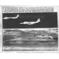 1956 Press Photo U.N Navy Composite Squadron 62 at the coast of Spain