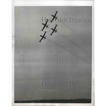 1953 Press Photo U.S. Air Force Members Jet Precision Flying Team Thunderbirds