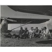 1947 Press Photo Flying Farmers-Robert Harding of Harrington Flying Farmers Club