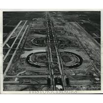 1973 Press Photo Dallas/Fort Worth Airport Terminals, Aerial Photo - mja66266