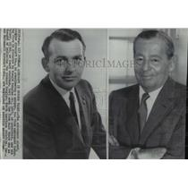 1966 Press Photo Douglas Aircraft Co.'s Donald Douglas Jr. and his father