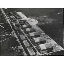 1940 Press Photo Aerial View of Le Bourget airport near Paris - spa74069
