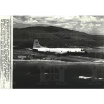 1975 Press Photo Navy Patrol Airplane was fired on while watching US cargo ship
