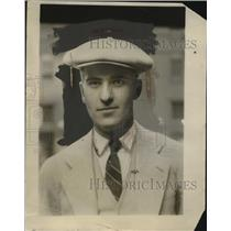 1927 Press Photo Herbert W. Maxson Balloon Manager - neo23324