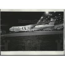 1968 Press Photo Airplane, Mammoth C5A Galaxy world's largest airplane