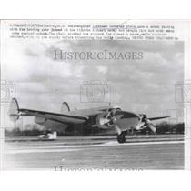 1957 Press Photo Twin-Engined Lockheed Lodestar Plane Made Crash Landing Today
