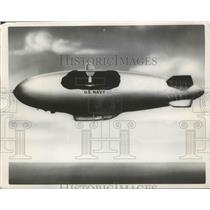 1957 Press Photo Largest Radar Antenna installed in Airship Blimp - nef65637