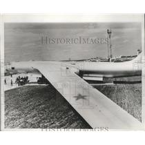 1967 Press Photo Soviet Bison Bomber display at the Moscow Air Show - nef68821