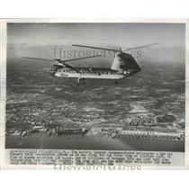 1954 Press Photo World's largest tandem-rotored Helicopter Air Force YH-16