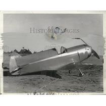 1938 Press Photo Walter McClain in World Challenge plane by CC Flagg in CA