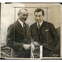 1929 Press Photo Louis Ijikowsky w/ Casimir Kubaln Plan Transatlantic Flight