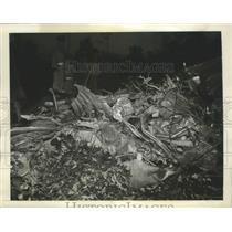 1941 Press Photo Curtiss P-40 Plane Lies Crashed In Field Northeast of Eastport