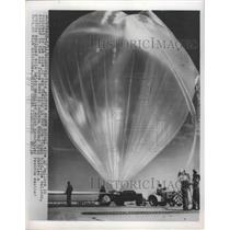 1955 Press Photo Balloons refueling for its flight at Denver - nef68326