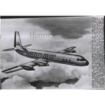 1955 Press Photo Artist sketch of the new Lockheed Electra for American Airlines