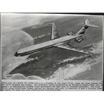 1960 Press Photo Super VC-10 jet liner planned for North Atlantic air routes