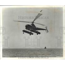1949 Press Photo Sikorsky H-5H U.S Air Force First Amphibious Helicopter