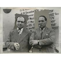 1933 Press Photo Pilots Maurice Rossi, Paul Codos Arrive in NY on SS Champlain
