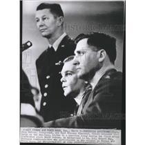 1961 Press Photo Capt John McKone & Capt Freeman Olmstead Freed Russian Hostages