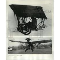 1964 Press Photo Joan Hughes in Replica of Santos-Dumont Demoiselle Monoplane