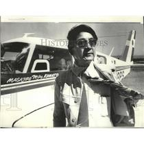 1976 Press Photo Masajiro Kawato flew from Japan to CA as tribute to WWII pilots