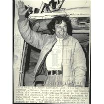 1975 Press Photo Robert Spark returned to Cape Cod after balloon flight ditched