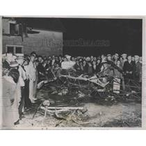 1935 Press Photo Scene of Plane Crash That Killed Rowland Gardner & 2 Passengers
