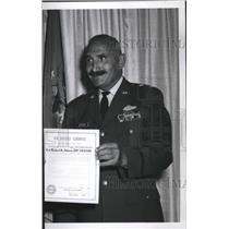 1963 Press Photo Maj Gen H.R. Spicer of Geiger Field - spa64446