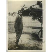 1927 Press Photo Heinz Kissin, 17 years old Youngest German Aviator - nef68605