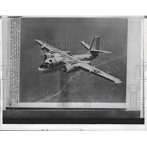 1962 Press Photo U.S. Navy Patrol Airplane was fired north of coast of Cuba