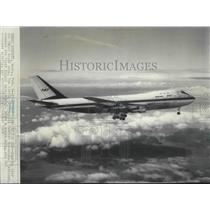 1969 Press Photo Boeing 747- World's largest commercial jetliner's maiden flight