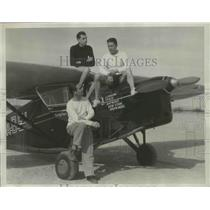 1934 Press Photo Three American Aviators Make 8,000-Mile Curiosity Flight