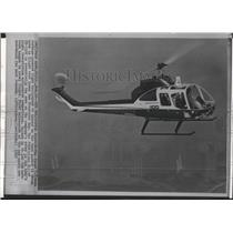 1965 Press Photo First U.S, made helicopter fly over San Francisco Bay