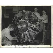 1901 Press Photo Airplane engine for the test at Aircraft Engine Research Lab.