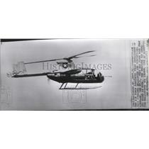 1955 Press Photo Air Force Announced Development of Combined Helicopter & Plane
