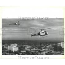 1990 Press Photo Sacred Heart Hospital Heartflite's helicopters to be dedicated