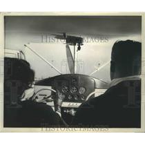 1946 Press Photo Instrument Panel and Windscreen of Stinson Airplane