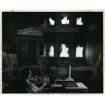 1989 Press Photo Disney Imagineer Programs Special Effects - mjx28596
